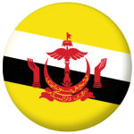 Brunei Country Flag 58mm Button Badge